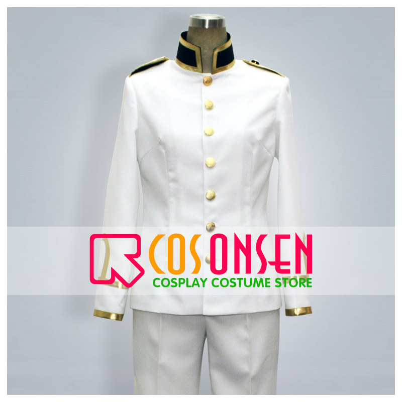 COSPLAYONSEN Axis Powers Hetalia Japan Cosplay Costume White Military Uniform All Size Custom Made