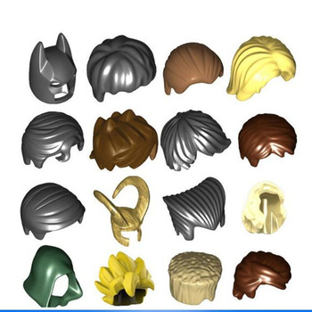 15pcs/lot Decool hair helmet military weapon for 4cm mini dolls MOC building blocks  brick toys compatible lepin SY Pogo figures lepin nexo knights axl jestros volcano lair combination marvel building blocks kits toys minifigures compatible nexu