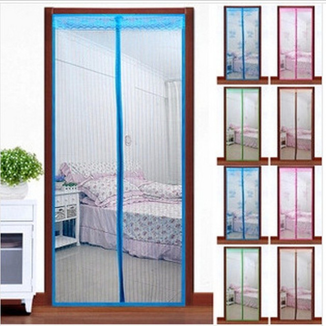 2017 New Magnetic Mosquito Curtains Anti Insect Screen Door Curtain  Magnetic Anti Mosquito Net Bug Stripe