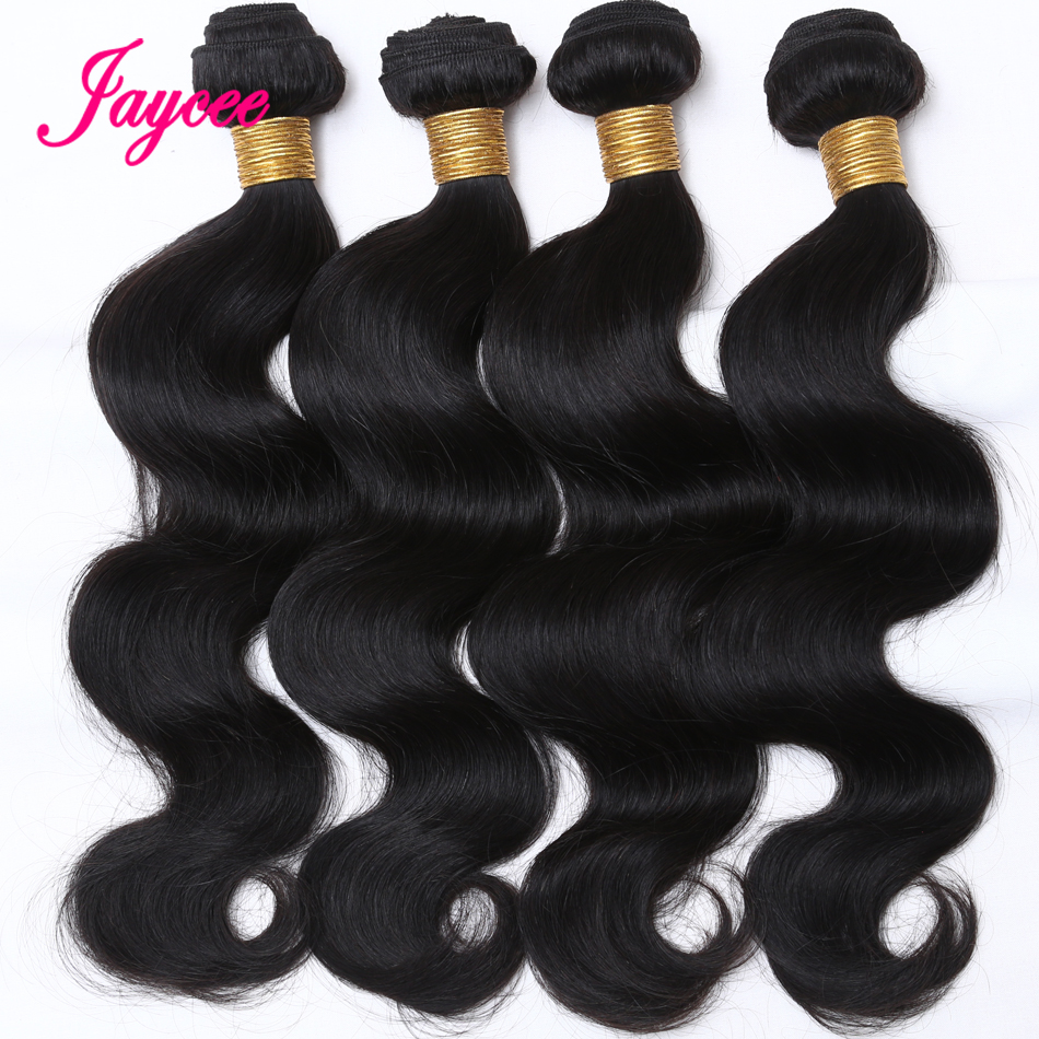 Hair Extensions Human-Hair-Style Body-Wave Humain Deals Jaycee Maylasian 4-Bundle Cheveux