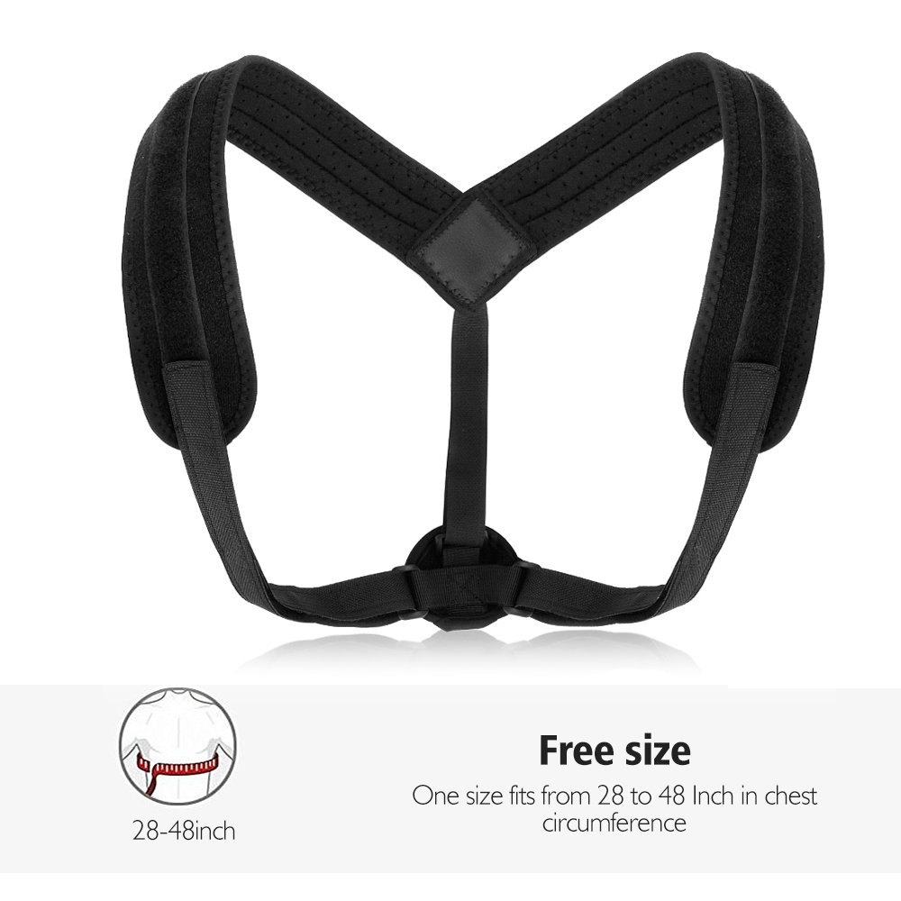 Upper Back Posture Corrector Belt with Adjustable Straps made of Comfortable and Breathable Cotton Material easy to Wear Underneath Cloth 4