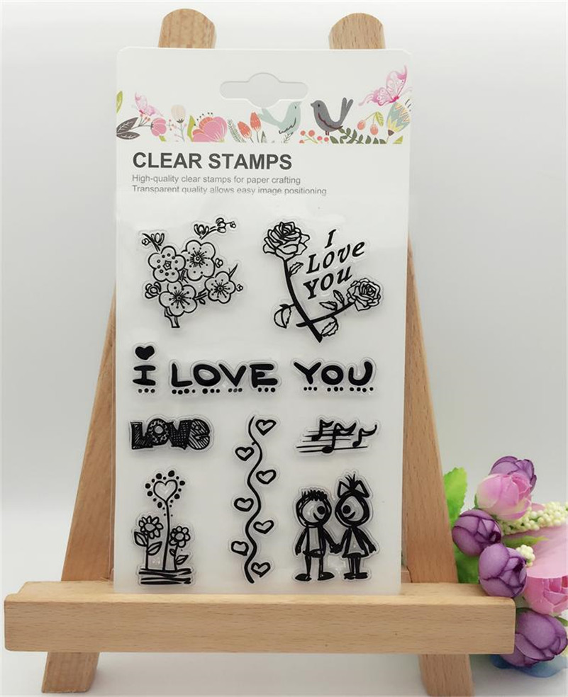 Rubber stamps for crafting -  Big And Small Kiss Lip Print Diy Transparent Clear Rubber Stamp Seal Photo Album Diary Scrapbooking Paper Card Ll 306
