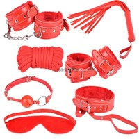 New Hot Sale Sex Toy Red Strap Band Rope Game Sets For Adult Couple