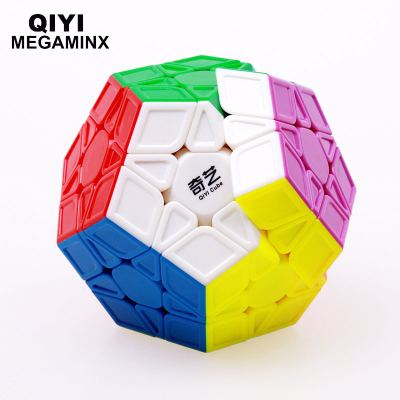 Original QIYI megaminx Magic Speed Cube 12 sides Stickerless Cubo Magico professional Puzzle learning education font