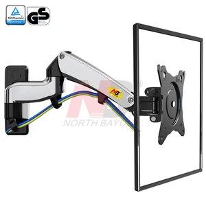 "Image 5 - NB F300 5 10kg aluminum Gas spring Monitor full motion 2 arm tv wall bracket LCD 30 40"" tv mount monitor holder led stand"