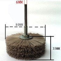 7 Pieces Abrasive Root Carving Relief Wear Resistant Polishing Brush Stamestki For Woodcarving Cepillo De Pulido