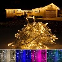 LED נטיף קרח מחרוזת אורות 5 M 216 נוריות אורות פיית חג מולד חג המולד חיצוני בית לחתונה/מסיבה/וילון/גן קישוט