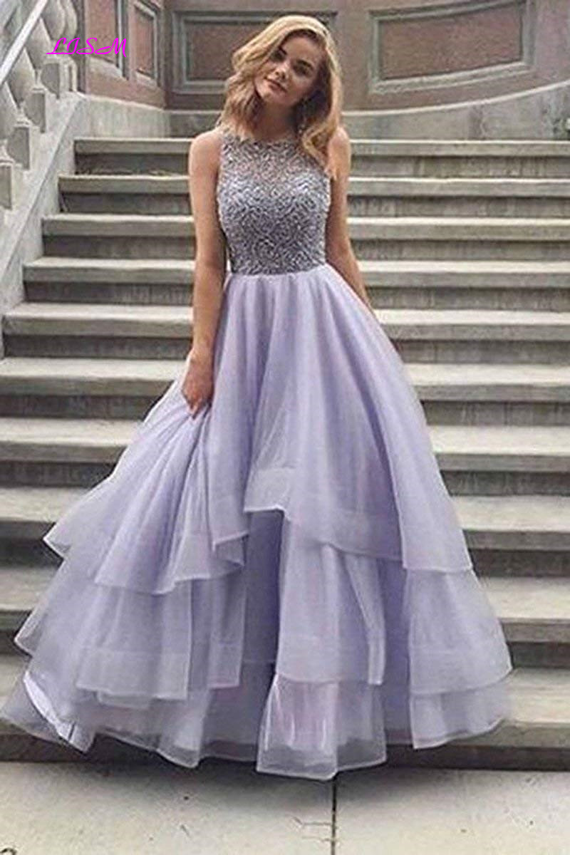 Vintage Tiered Ball Gown Quinceanera Dresses Scoop Neck Lace Beaded Formal Party Gowns Long Tulle Prom Dress vestido 15 anos in Quinceanera Dresses from Weddings Events