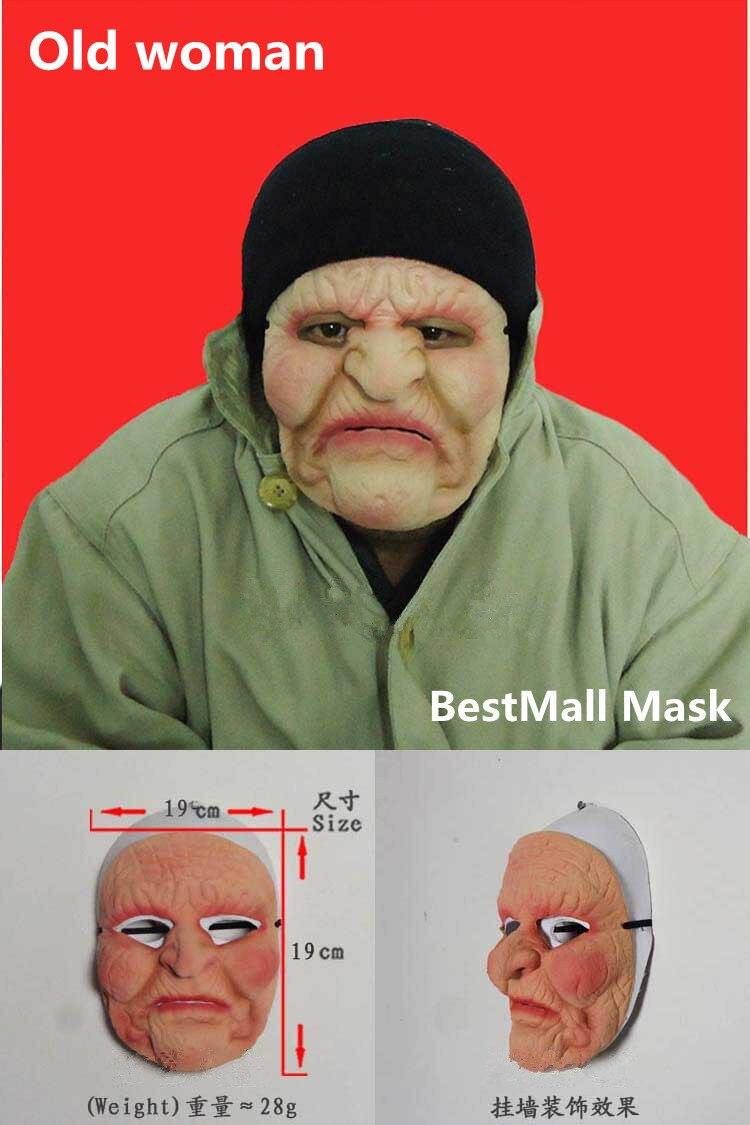 Aliexpress.com : Buy New Old woman Latex mask halloween figure ...