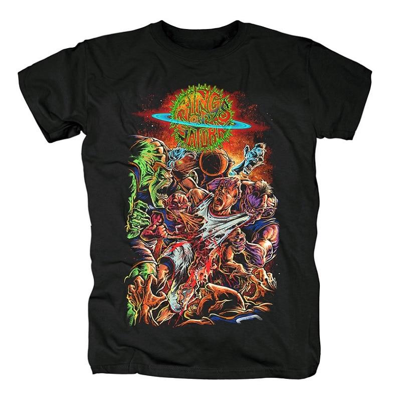 15 дизайнерских колец Сатурн инопланетянин группа рок брендовая рубашка Hardrock heavy thrash Metal deathcore хлопковая Футболка camiseta уличная одежда - Цвет: 5