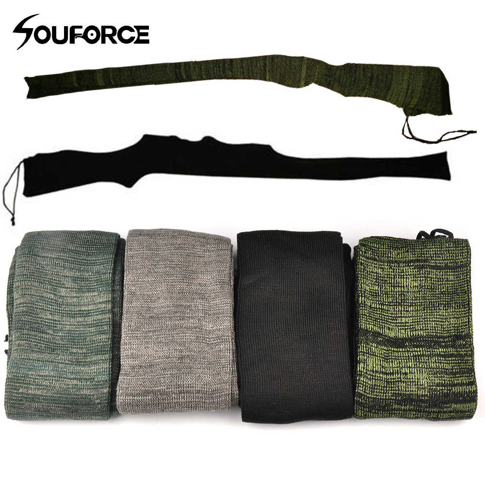 "4 kleur Rifle Knit Lucht Pistool Sok 54 ""Polyester Siliconen Behandeld Rifle Protector Shotgun Cover Case Opslag Mouw Vuurwapen stof"