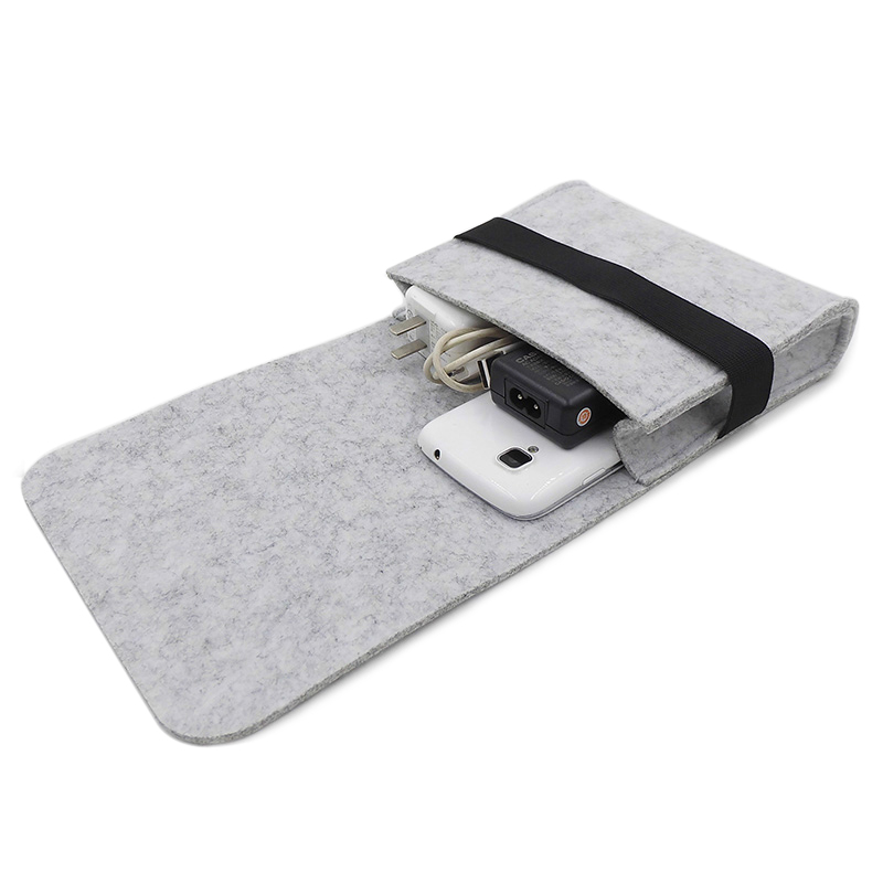Fashion Felt Mouse Pouch Multipurpose Charger Storage Bag Travel Organizer Power Pack for Apple MAC & Laptop Accessories