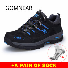 GOMNEAR รองเท้าผ้าใบรองเท้าชายตกปลาตกปลากลางแจ้ง Trekking รองเท้ากันน้ำ Camping Camping กีฬาการล่าสัตว์รองเท้าหนังรองเท้า