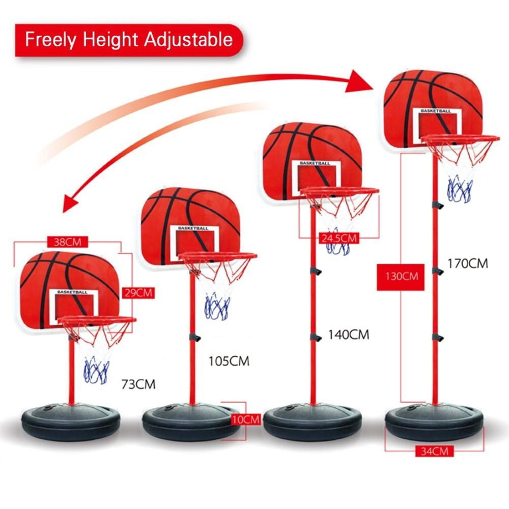 73-170 CM basket-ball Stands hauteur réglable enfants basket-ball but cerceau jouet Set basket-ball pour garçons entraînement pratique accessoires - 2