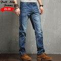 2017 Дизайнер Плюс Размер Светло-Голубой Прямые Джинсы Мужчины Jogger джинсы 4XL 5XL 36 38 Большой Размер Свободные Fit Denim джинсы