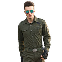Men Army Military Style Shirts 101 Airborne Division Tactical Combat Camouflage Shirts Soldiers Flight Clothing Long