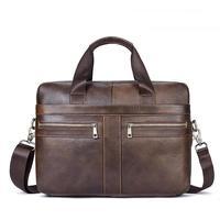 2019 Designer Men Bag Leather Genuine Man Messenger Bag Briefcases Laptop Computer Handbag Male Business Shoulder Crossbody Bags