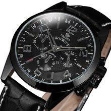 Cuarzo reloj de MG. ORKINA Mens Relojes Correa de Cuero Cronógrafo Cronómetro de Cuarzo Reloj De Pulsera Masculino kol saati