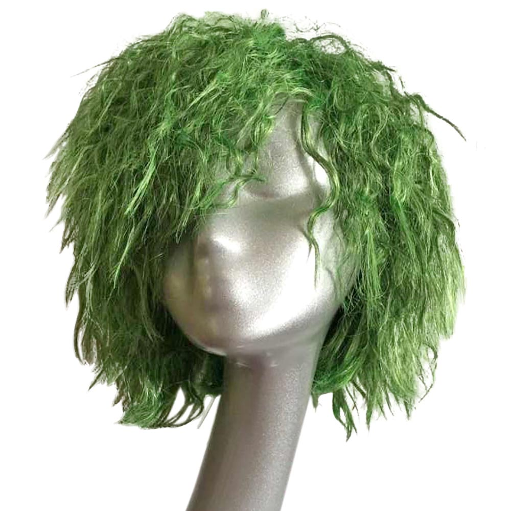 Batman The Dark Knight Joker Cosplay Short Green Wave Hair Seaweed Hair Headwear Injustice League Antihero Costume Accessories