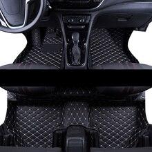 lsrtw2017 leather car floor mat for opel mokka 2012 2013 2014 2015 2016 2017 2018 2019 accessories rug carpet interior styling