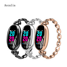 Accalia E68 Intelligent Wristband Fitness tracker blood pressure sports wrist watch IP67 Life Waterproof Watch gift for lady