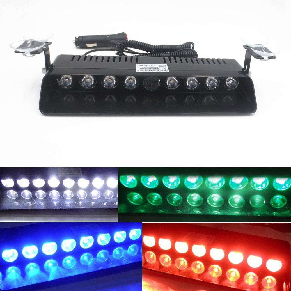 CYAN SOIL BAY 8 LED Emergency Hazard Warning Windshield Dashboard Strobe Light Warning Lamp Flash Flashing Amber White Red Blue 4x 4 led car flash truck emergency beacon light bar hazard strobe warning amber white blue red
