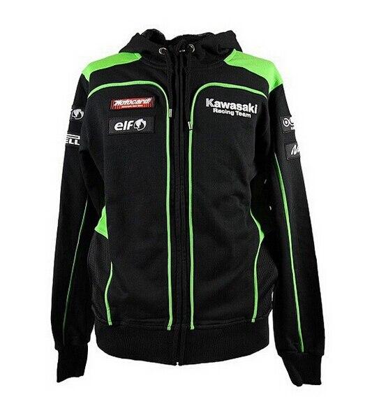 New Men's Clothing 100% Cotton Coats Kawasaki Hoodies Sweatshirts MotoGP Motorcycle Hoodies Casual Sports Jacket
