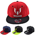 2016 New Summer Children  Baseball Cap Hat Boys Girls MESSI Snapback Hats Kids Sports  Hip Hop Caps