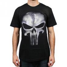 Mode Männer 3D Punk Skull Print T-shirt Tops Sommer Freizeit Bottom Kurzarm