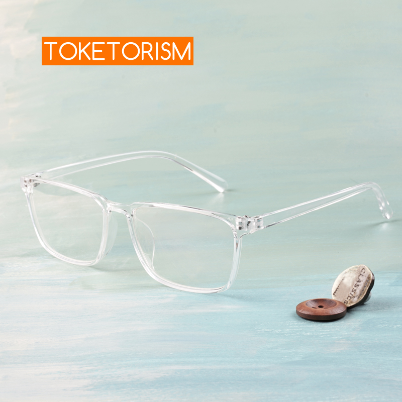 Toketorism Lightweight Plastic Rectangle Men Glasses Transparent Frame Eye Glasses Optical Women Accessories 3042