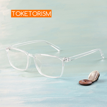 Toketorism lightweight plastic rectangle men glasses transparent frame eye optical women accessories 3042