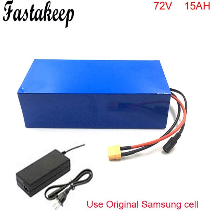 Batterie ebike 72 v 15ah li ion batterie avec kit de vélo électrique 25A BMS protection