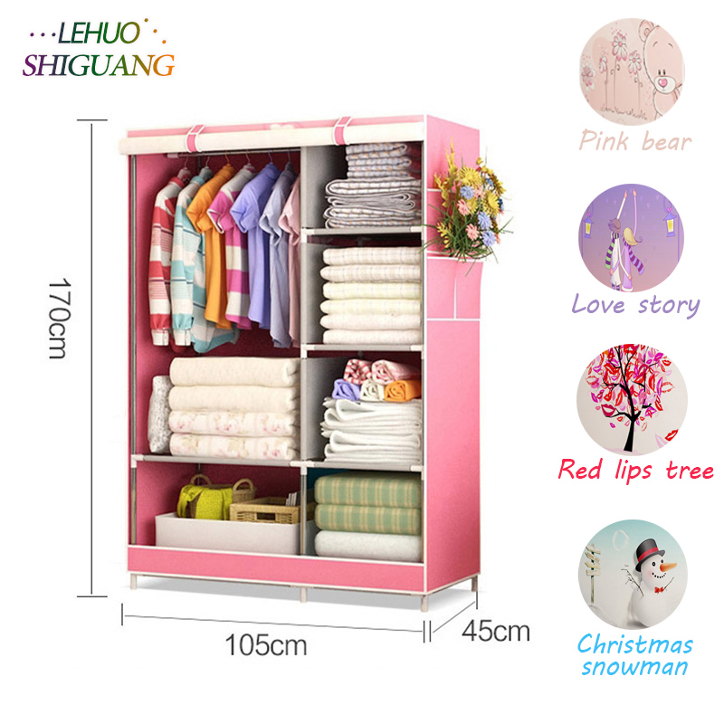 Wardrobe Non-woven Fabric frame reinforcement Standing Storage Organizer cabinet Detachable Clothing Closet bedroom furniture hot sale non woven assembled wardrobe closet clothes storage cabinet wardrobe modern bedroom furniture wardrobe closet