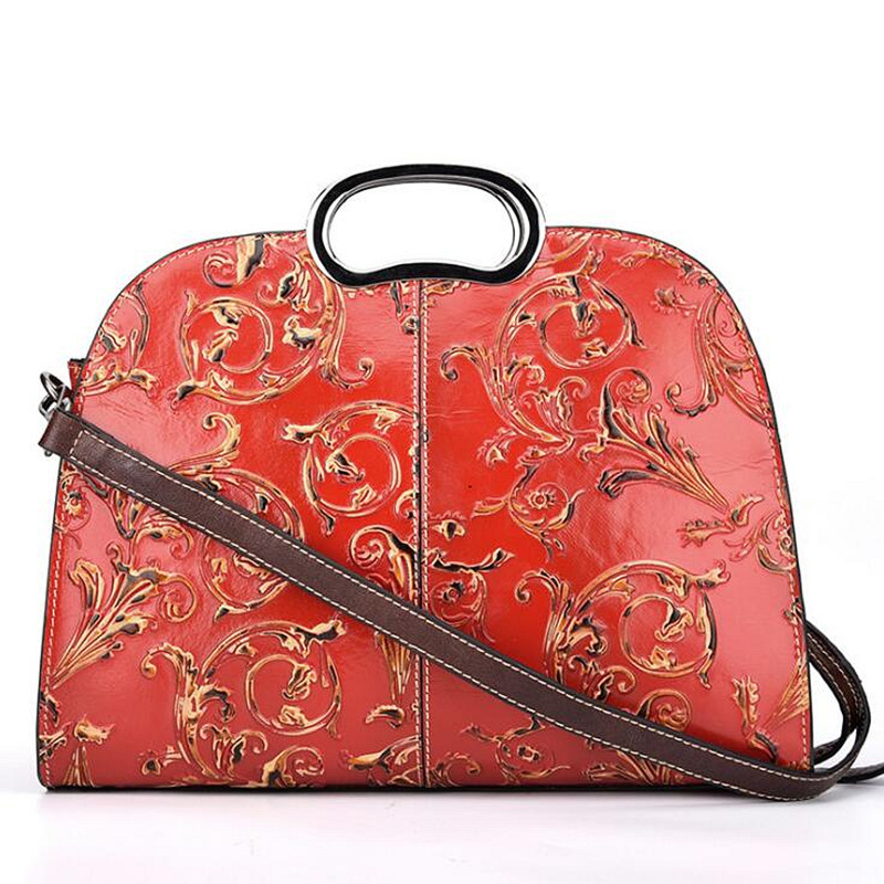 Genuine Leather Luxury Handbags Women Bags Designer Top handle Bags Female Women Leather Handbags Sac a Main in Shoulder Bags from Luggage Bags
