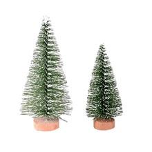 Рождественская елка мини сосна с деревянной основой DIY Домашний Настольный Декор