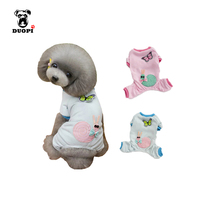 Duopi New Cute Animal Pattern Pet Dog Clothes Winter Warm Jumpsuit For Puppy And Cat Leisure
