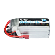 HRB Lipo Battery 7.4V 11.1V 2200mAh 14.8V 18.5V 22.2V 2S 3S 4S 5S 6S 30C XT60 EC2 Deans T RC Trex-450 FPV Airplanes Drone Parts