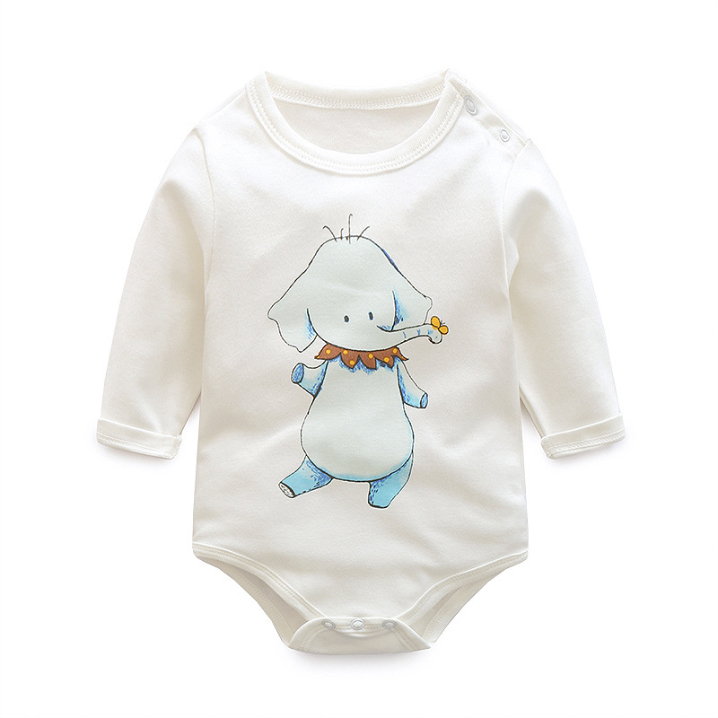 100% Cotton Baby Bodysuit White Autumn Newborn Cotton Body Baby Long Sleeve Underwear Infant Boy Girl Pajamas Clothes baby baby girl clothes baby winter suit spring and autumn warm baby boy clothes newborn fashion cotton clothes two sets of underwear