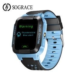 Gps умные часы с камерой фонарик детские часы SOS местоположение устройства трекер для детей Безопасный 2 г Smartwatch для детей