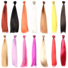 DIY 30 100cm BJD Doll Wigs Long Straight Hair Wig Many Color High temperature Wire Doll