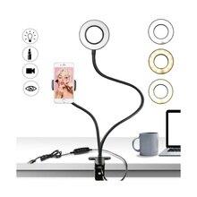 Foto Studio Selfie LED Ring Licht mit Handy Mobile Halter für Youtube Live Stream Make Up Kamera Lampe für iPhone android