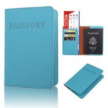 Casual PU skórzany paszport okładka urządzenia wielofunkcyjne dokumenty posiadacza karty kredytowej Travel Passport Bag tanie tanio Akcesoria podróżne Masz 14 2 cm Z CL0077 9 8 cm Stałe Pokrowce na paszport Niebieski Błękitny khaki różowy czerwony brązowy