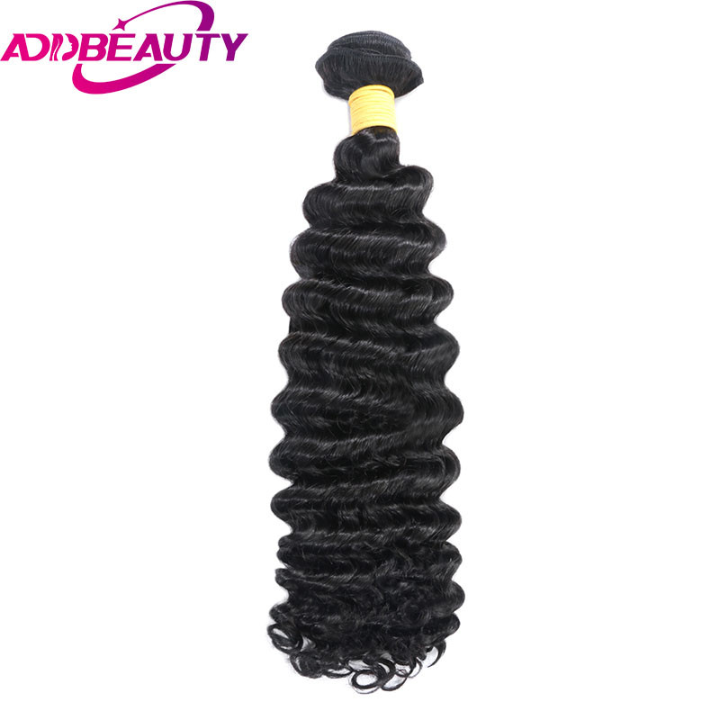 AddBeauty Brazilian Deep Wave Remy Hair Bundle 10-30 Inch Natural Color 100% Human Hair Weave Can Colored Light Brown For Salon