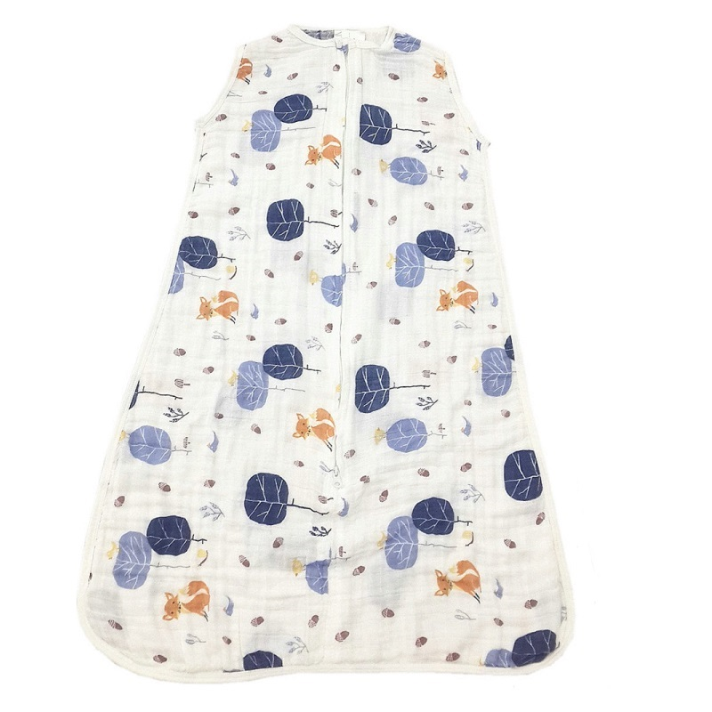 100% Muslin Cotton Baby Thin Sleeping Bag For Summer Baby Sleeveless Sleepsacks Saco De Dormir Para Bebe Sacks KF484