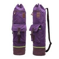 Canvas Yoga Bag Sports Bags Pilates Bag Portable Shoulderbag Men Women Fitness Backpack Sports Gym Pack Yoga Mats Bag 72*16