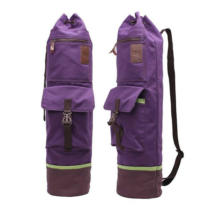 Canvas <font><b>Yoga</b></font> Bag Large Capacity Waterproof Sports Bags Pilates Bag Men Women Fitness Backpack Sports Gym Pack <font><b>Yoga</b></font> Mats Bag 72*16