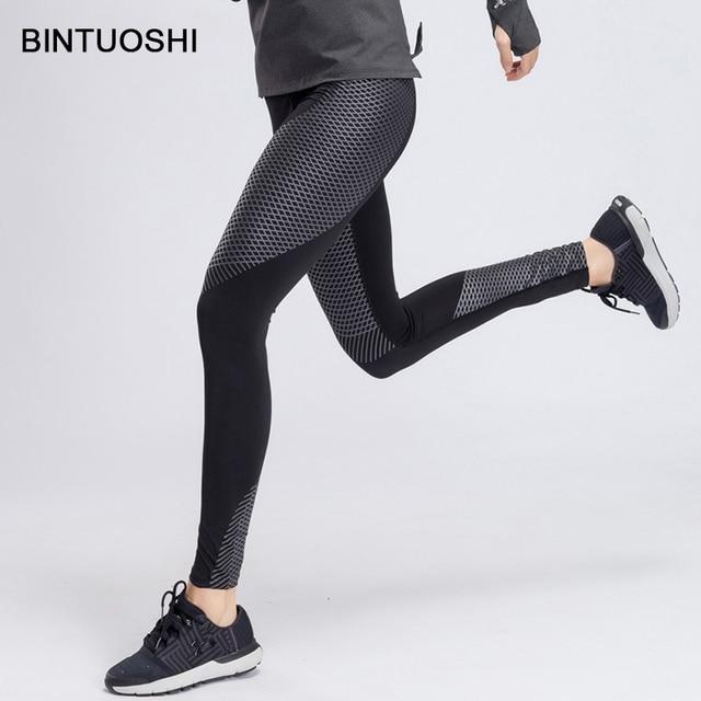 Bintuoshi Leggings Women Yoga Pants Patchwork Running Pants Pantalon