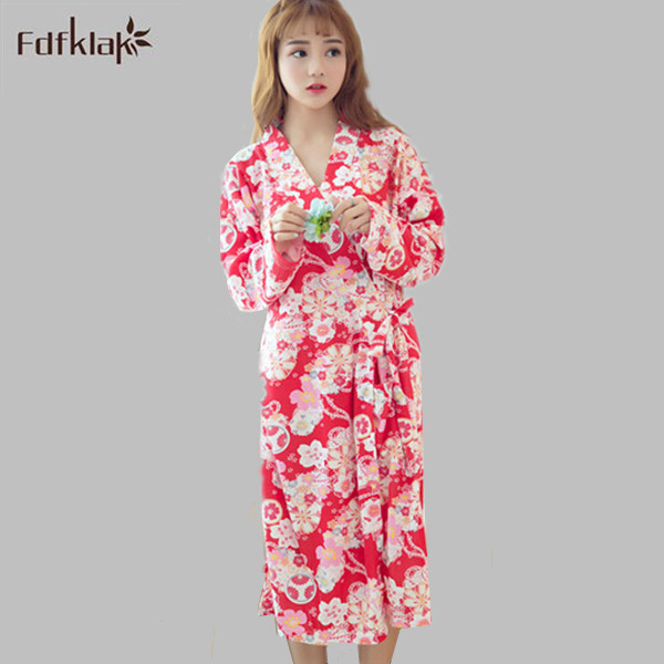 Hot Sale Dressing gowns womens sleepwear robe long sleeve autumn ...