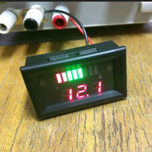 12V ACID Lead Battery Charge Level Indicator Battery Tester Lithium Battery Capacity Meter LED Tester Voltmeter Dual Display(China)