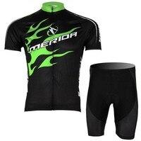 2013 NOVO!!! MERIDA manga curta camisa de ciclismo vestir roupas bicicleta/bicicleta/andar jersey + calças curtas